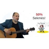 Nuotolinio mokymo groti gitara programa.